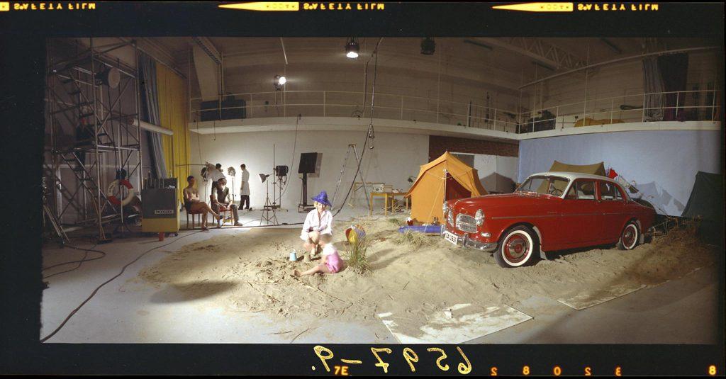 Sand i studion, Omklädningsrum för modeller_09-091-WZ Gbgs stadsmuseumVolvo